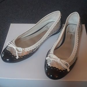 Women's Embellish Design Upper Bow Ballets